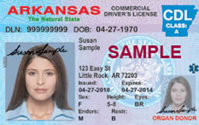Image of Arkansas's Driver's License
