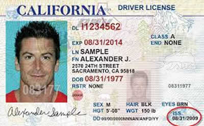Image of California's Driver's License