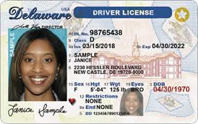 Image of Delaware's Driver's License