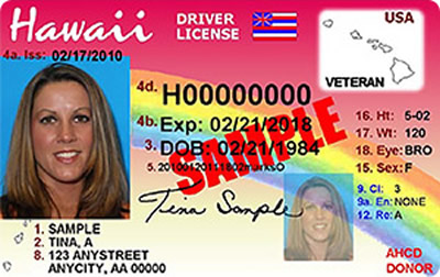 Image of Hawaii's Driver's License