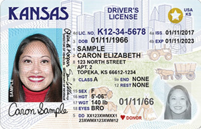 Image of Kansas's Driver's License
