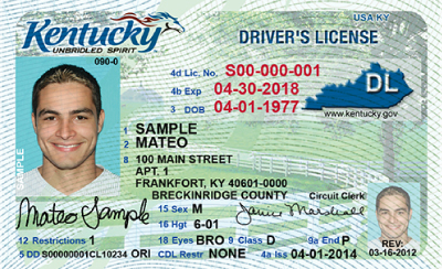 Image of Kentucky's Driver's License