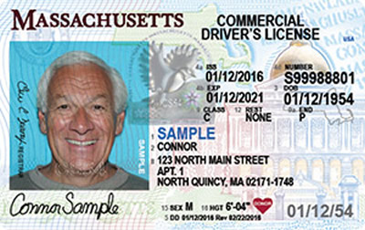 Image of Massachusetts's Driver's License
