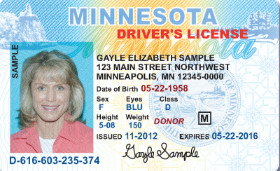 Image of Minnesota's Driver's License