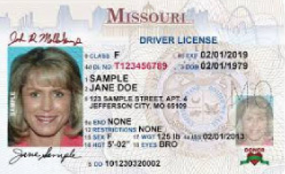 Image of Missouri's Driver's License