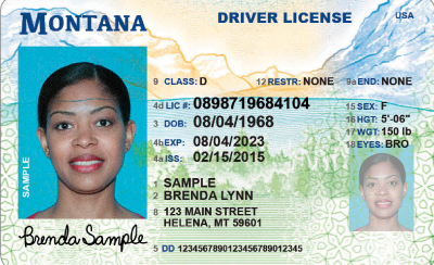 Image of Montana's Driver's License