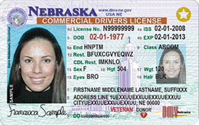 Image of Nebraska's Driver's License
