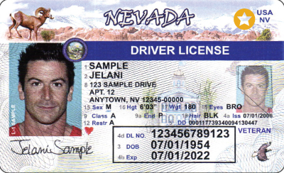 Image of Nevada's Driver's License