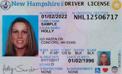 Image of New Hampshire's Driver's License