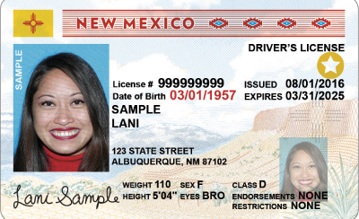 Image of New Mexico's Driver's License