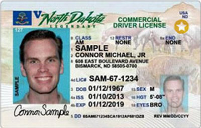 Image of North Dakota's Driver's License