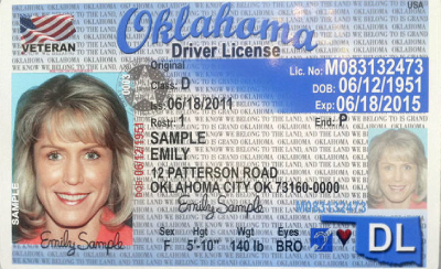 Image of Oklahoma's Driver's License