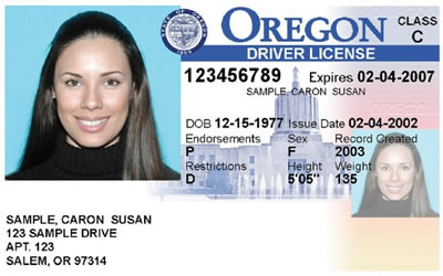 Image of Oregon's Driver's License