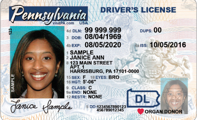 Image of Pennsylvania's Driver's License