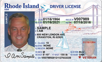 Image of Rhode Island's Driver's License