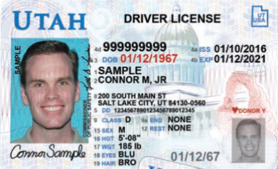 Image of Utah's Driver's License