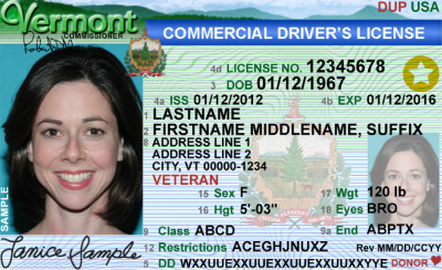Image of Vermont's Driver's License