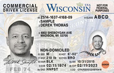 Image of Wisconsin's Driver's License